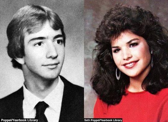 貝佐斯和桑切斯在高中年鑑上的照片。