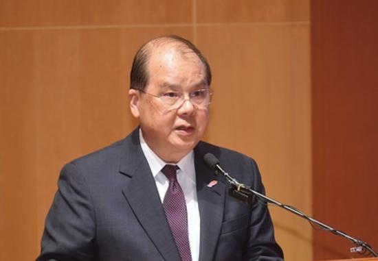 """张建宗呼吁香港市民支持""""涉港国安法""""立法图片"""