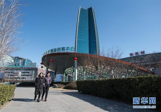 中关村一角(2017年2月9日摄)。 新华社记者罗晓光摄