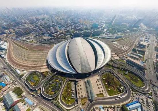 北京南站航拍