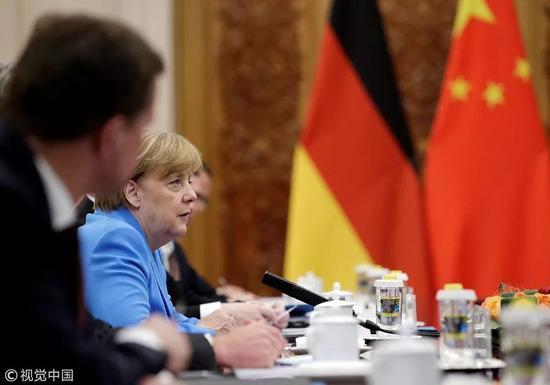 ▲5月24日,德国总理默克尔在人民大会堂。这是默克尔连任德国总理后的首次访华,也是她第11次访华。(东方IC)