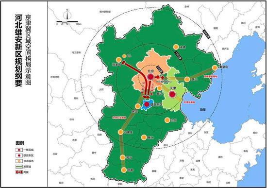 图表:京津冀区域空间格局示意图 新华社发