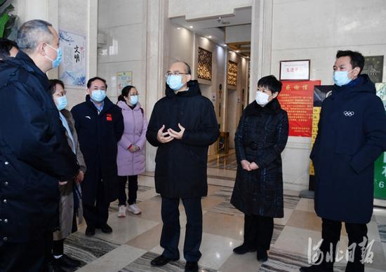 河北省长检查石家庄集中隔离场所:严格落实隔离规范确保安全图片