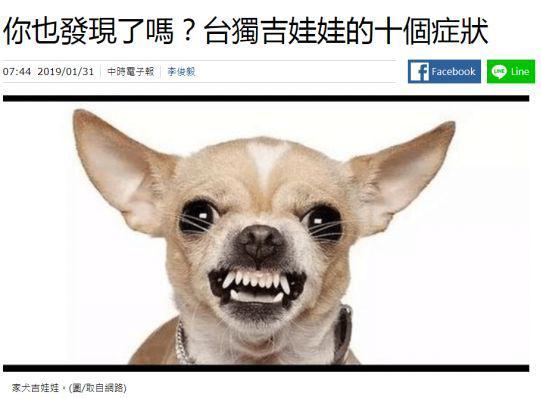 """台湾""""中时电子报""""报导截图"""