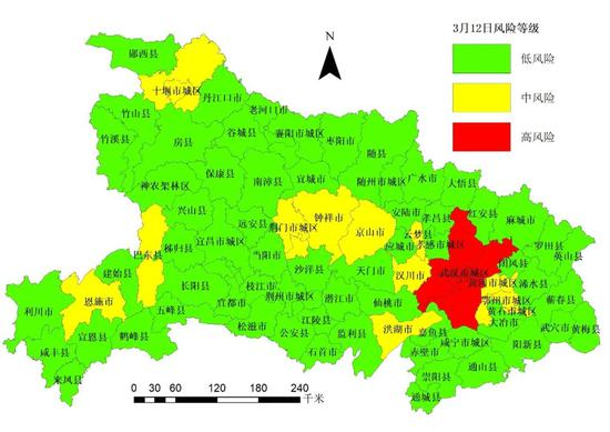 除武汉外,湖北其他市县疫情均为中低风险!图片