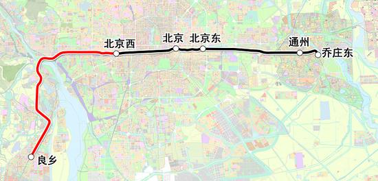 市郊铁路都会副中央线西延门路图。