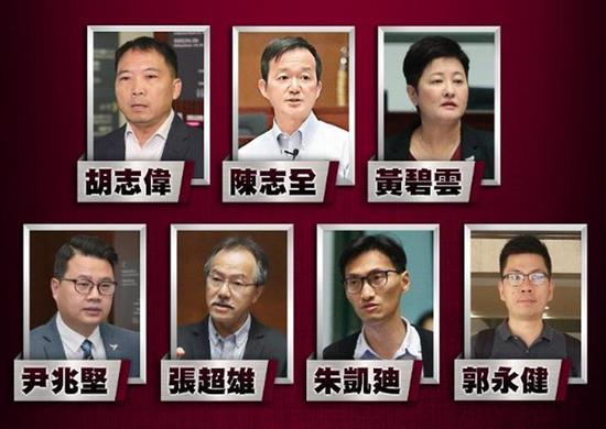"""香港警方今早拘捕7名反对派人士。图源:香港""""东网"""""""