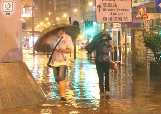 旺角区滂沱大雨