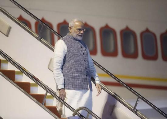 ▲资料图片:4月27日,印度总理莫迪抵达湖北武汉。