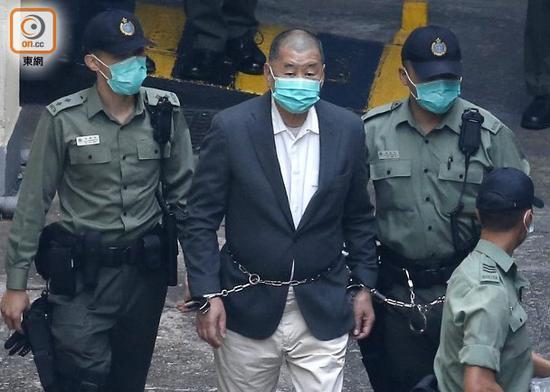 祸港头目黎智英涉非法集结案罪成图片