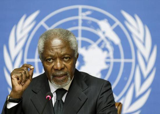 安南在联合国