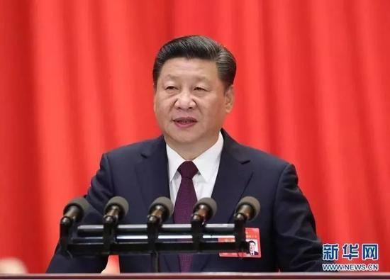 2017年10月18日,我国共产党第十九次全国代表大会在北京公民大会堂隆重开幕。习近平代表第十八届中心委员会向大会作陈述。 新华社记者 马占成 摄