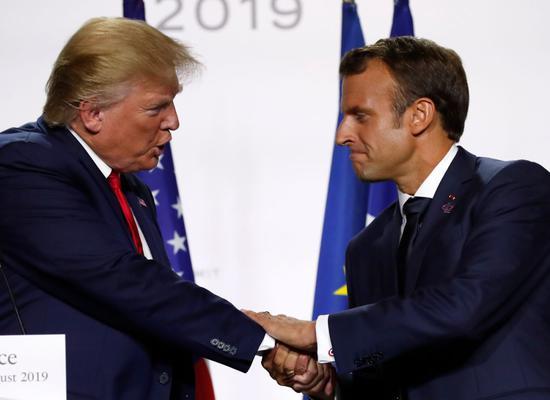 """当着世界媒体的面 特朗普称G7峰会开得很""""团结"""""""