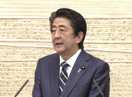 日本首相安倍晋三(NHK)