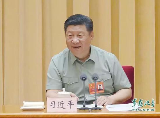 中央军委党的建设会议2018年8月17日至19日在北京召开。中共中央总书记、国家主席、中央军委主席习近平出席会议并发表重要讲话。 记者周朝荣 摄