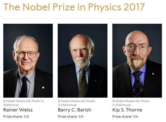截圖來源:諾貝爾獎官方網站
