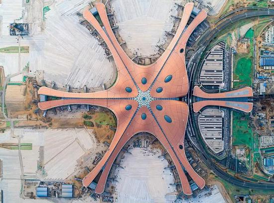 ▲北京大兴机场(《每日邮报》)
