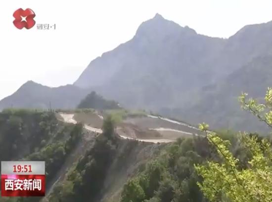 △黄柏峪修建石料矿近况