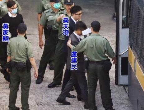 梁天琦等人11日一早由囚车押送上庭