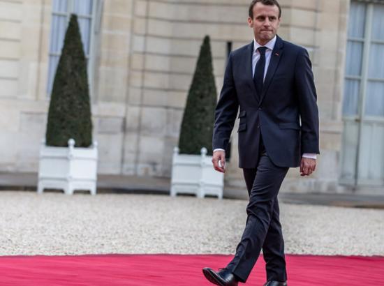法国总统马克龙。(图片来源:每日电讯报)