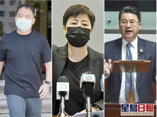 香港反对派议员胡志伟、尹兆坚及黄碧云被捕图片