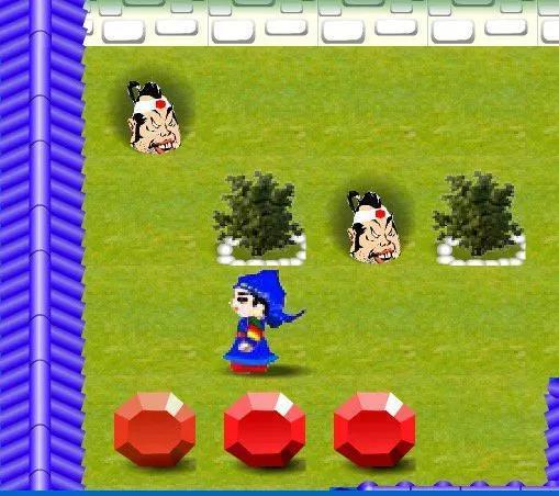 玩家需要在限定的时间内用宝石堵住花园的漏洞,以阻止日本人溜进花园偷看。