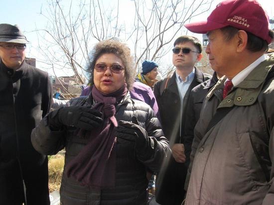 陈菊参观曼哈顿高线公园