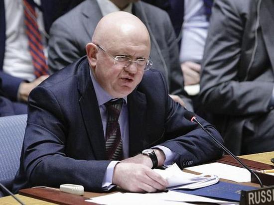 俄罗斯常驻联合国代表瓦西里·涅边贾。新华社记者 李木子 摄