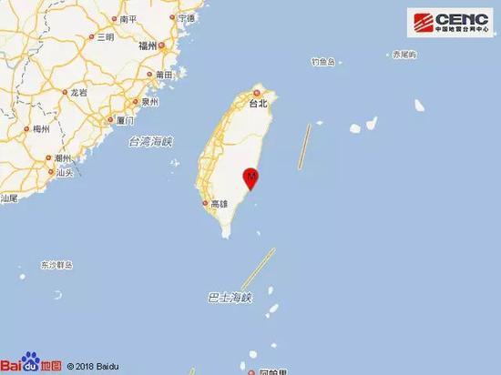 急速赛车8码必中:台湾台东县海域发生4.4级地震_震源深度18千米