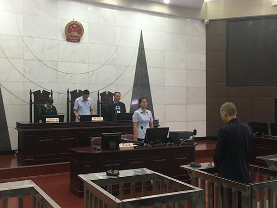 5月22日,南充中院对失信被执行人赵某川进行宣判。 南充中院 供图