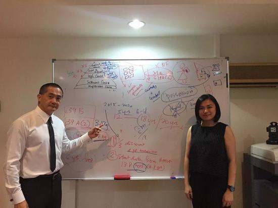 ▷律师冯吉祥和赵子珊向深一度记者讲解案情