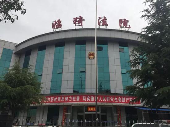 临猗法院大门。新京报记者王瑞锋摄