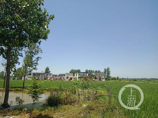 罗山县周党镇青龙村某组一角,该组至少有4人被政府督促回国接受调查。摄影/记者牛泰