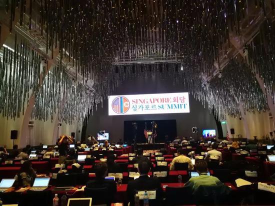 美国方面为媒体安排的新闻中心Press Filing Center