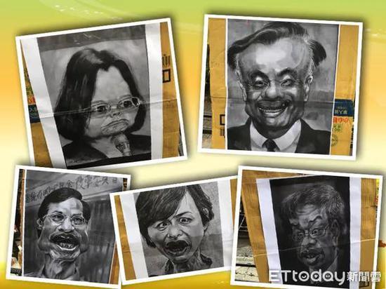 """八百壮士号召群众到""""立法院""""外抗议,并列出年改""""5大恶人""""扭曲肖像"""