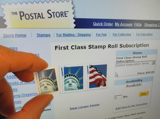 44美分的邮票(图片来源:法新社)