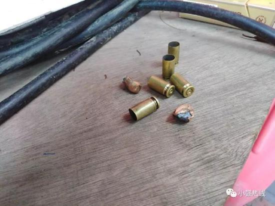 目击者现场拾到的弹壳