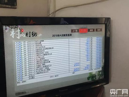 后陈村财务支出可以在数字电视上查看(央广网记者李佳摄)