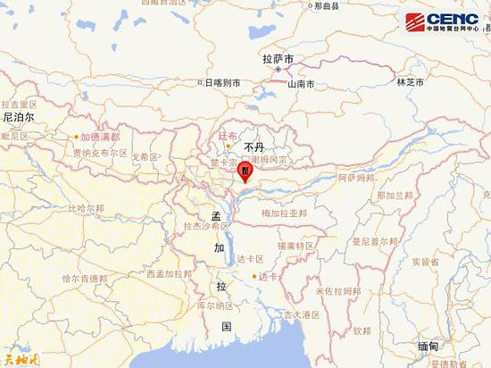 印度发生5.4级地震 距我国边境线最近约147公里
