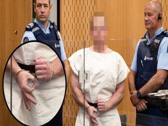 枪击案嫌犯布伦顿•塔兰特出庭受审图