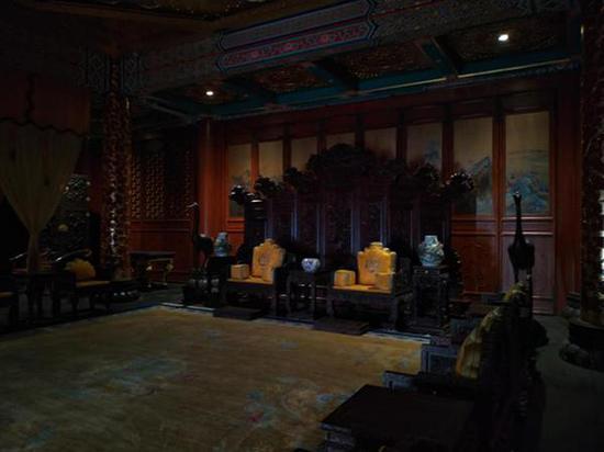 此前华堂长寿殿一楼大厅。澎湃新闻记者 海阳 图