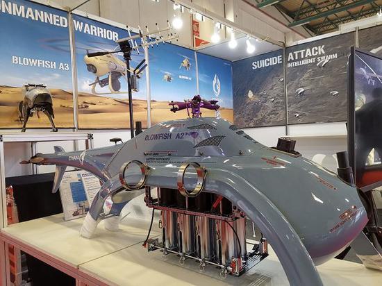 ▲圖爲在航展上展出的中國無人機