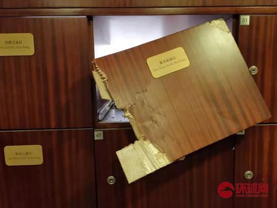 立法会议员的储物箱被撬开