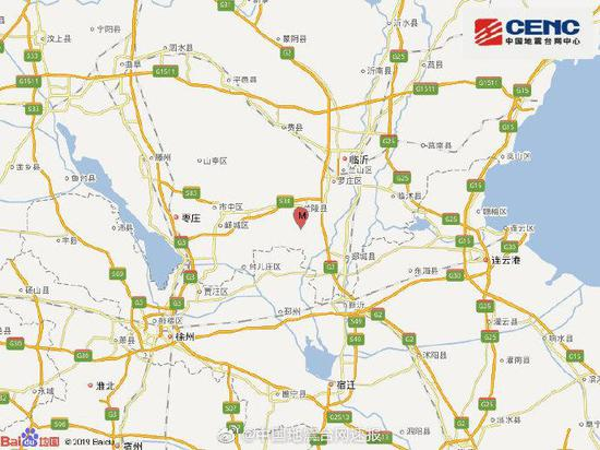 山东临沂市兰陵县(塌陷)发生2.9级地震图片