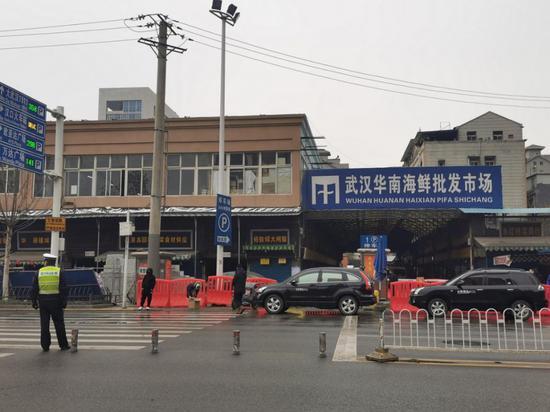华南海鲜批发市场已休业。(图片来源:中国经营报)