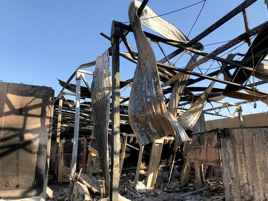 美军驻伊拉克基地遭伊朗袭击后,内部照片首度曝光(图片来源:路透社)