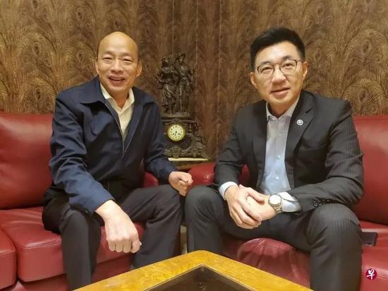 江启臣与韩国瑜碰面 商讨化解罢韩风暴图片