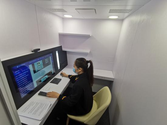 北京互联网法院推出虚拟法庭舱 3平方米空间即可开庭图片