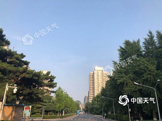 今天早晨,北京海淀区天气晴朗。