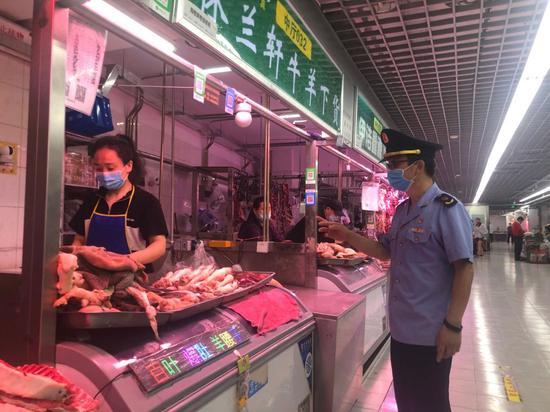 北京牛街清真牛羊肉市场未发现新发地货源图片